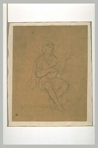 Etude de musicien napolitain assis