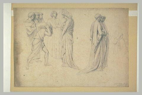 Groupes de personnages, du Baptistère de Florence