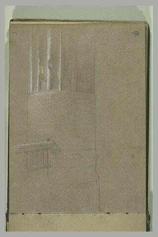 Colonne de l'église Saint-Séverin, à Paris