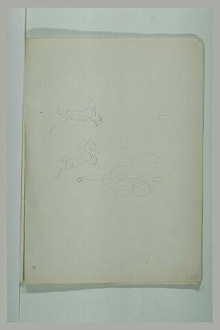 Cheval sautant au-dessus d'un boulet tiré par un canon
