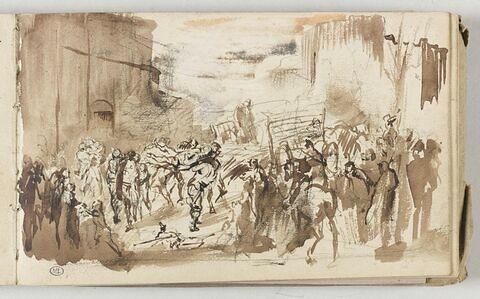 Transport de blessés pendant le siège de Paris