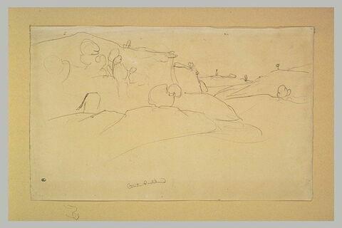 Vallon et colline boisée des environs de Civita Castellana