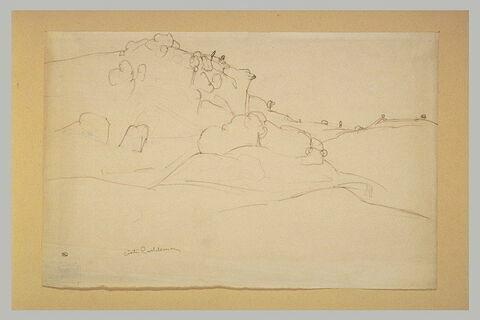 Vallon et colline abrupte des environs de Civita Castellana