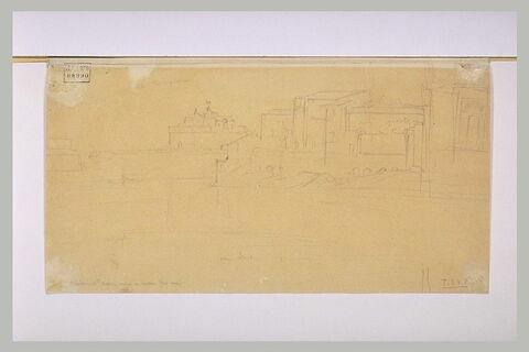 Le château Saint-Ange, vu de la rive gauche du Tibre