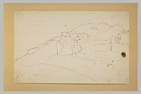 Maison à flanc de montagne à Ischia