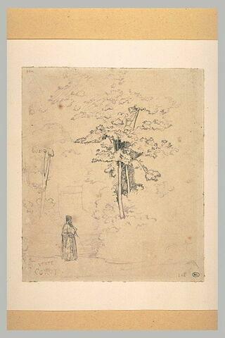 Personnage oriental dans un bois