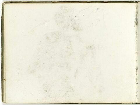 Silhouette d'un nu féminin, de dos, étendu sur le côté droit