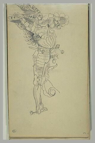 Homme en cuirasse, avec des ailes