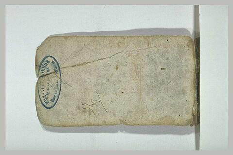 Oiseau, et note manuscrite