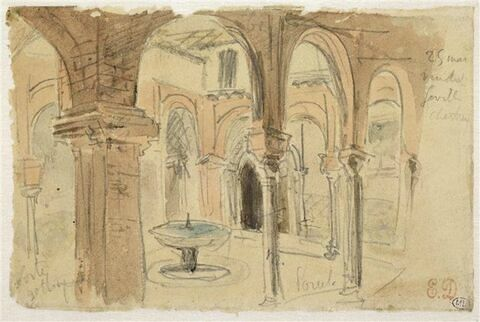 Cour intérieure de la Chartreuse de Seville