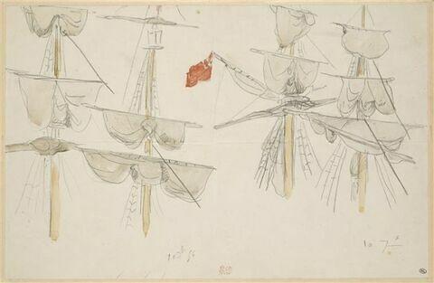 Quatre études de mâts de voiliers