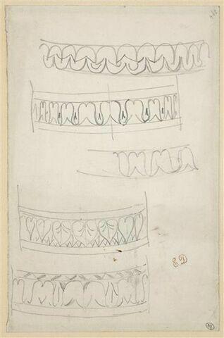 Etudes de décorations de colonnes