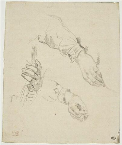 Trois études de mains