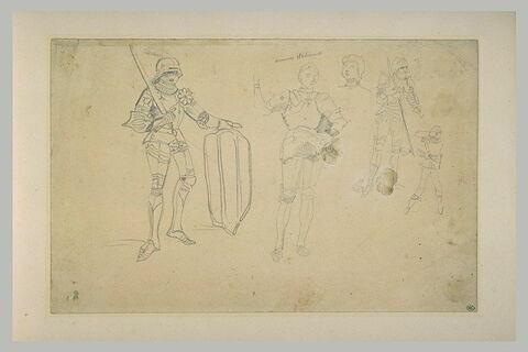 Etudes d'armures du Moyen-Age