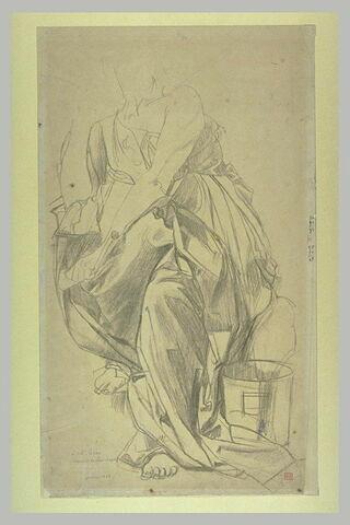 Calliope tenant le scrinium