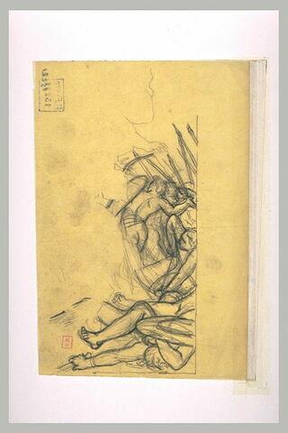 Fragment d'une bataille, d'après l'antique