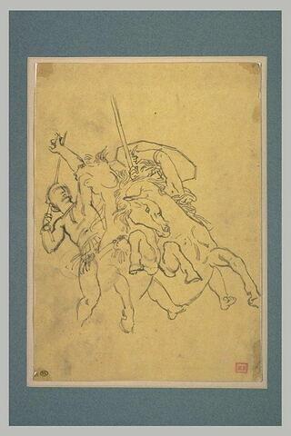 Deux cavaliers combattant