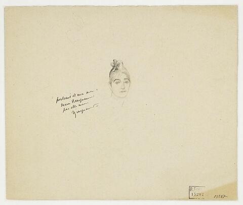 Autoportrait, et croquis d'une tête d'homme