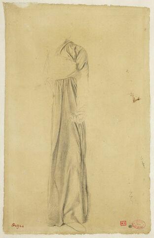 Etude de robe habillant une figure debout