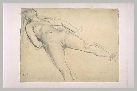 Femme nue, couchée sur le dos
