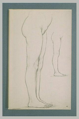 Deux études de la partie inférieure du corps d'une femme