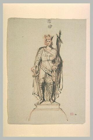 Projet pour une statue de saint Louis