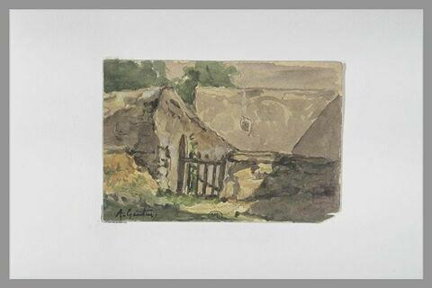 Masure dans un creux de terrain, à Montmartre