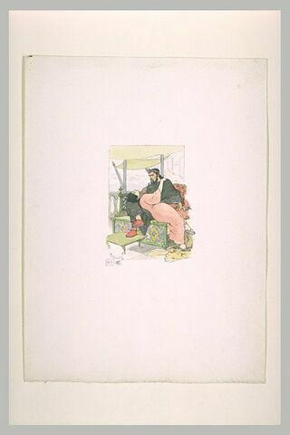 Salomé, couchée sur les genoux d'Hérode