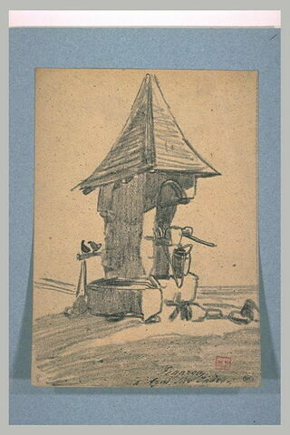 Puit protégé par un toit pointu
