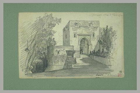 Entrée de l'Alhambra à Grenade