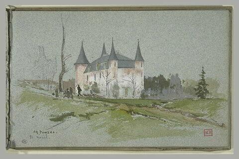 Château carré flanqué de quatre tours