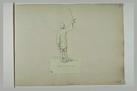 Homme, en armure, brandissant une épée: portrait de Philippe Le Bel