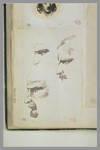 Profils d'homme à moustache et barbiche