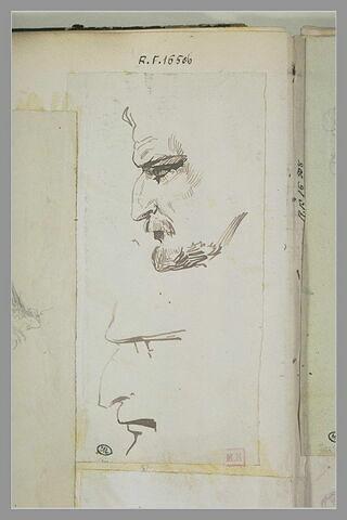 Profils d'homme à moustache et barbe taillées court