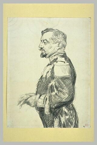 Portrait de l'officier de marine Reinach de Werth, de profil vers la gauche