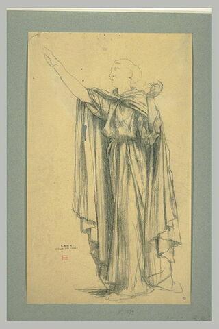 Sainte Geneviève rassurant les parisiens