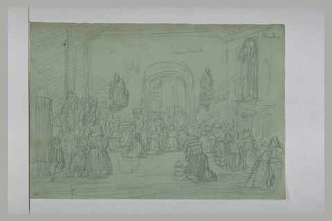 Bretonnes agenouillées dans une église