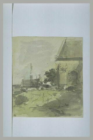 Terrain derrière une église