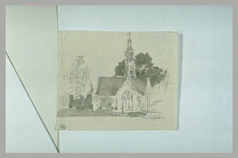 Eglise, derrière des arbres