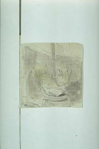 Femme penchée sur une cuve