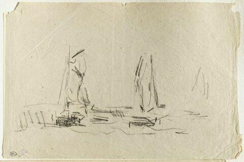 Deux voiliers glissant sur les flots