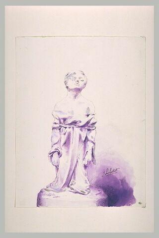 Femme à genoux, vue de face