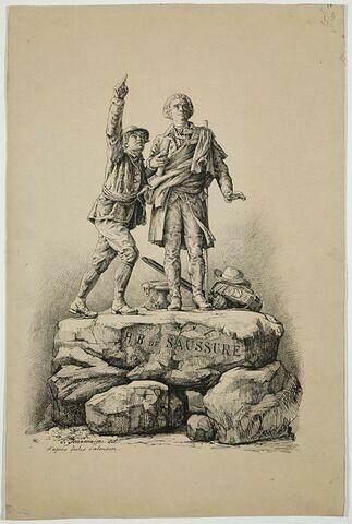 Monument dédié à Horace Bénédict Saussure