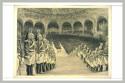 Cérémonie officielle dans le hall du Grand-Palais