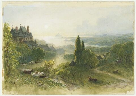 """Etude pour """"Le mont Saint-Michel, vue prise à Avranches"""""""