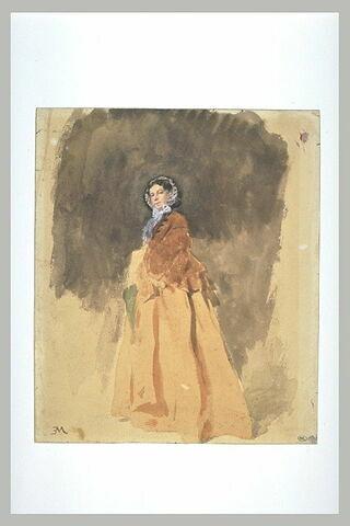 Portrait de Mme Sabatier, tenant une petite ombrelle verte
