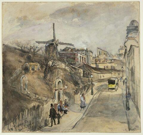 La Rue Lepic à Montmartre