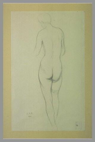 Femme nue, debout, vue de dos
