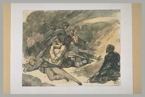 Groupe de soldats blessés
