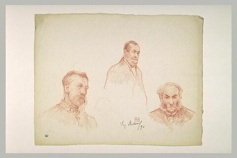 Trois portraits d'hommes